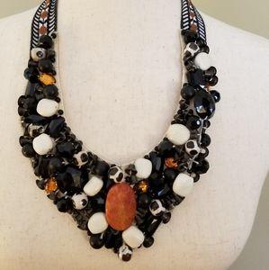 Roberta Freymann Beaded Bib Collar Necklace